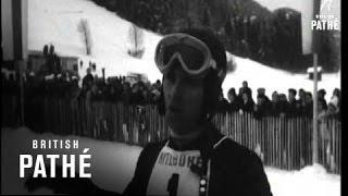 Internationale downhill skiwedstrijd Kitzbühel in 1966