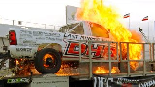 MASSIVE FIRE - Runaway Diesel on the Dyno!