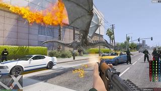 GTA 5 Mod - Rồng Lửa tấn công thành phố GTA V (Dragon Attack)