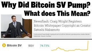 Bitcoin SV Price Pumps as Craig Wright Registers Bitcoin Whitepaper Copyright. What's this mean?