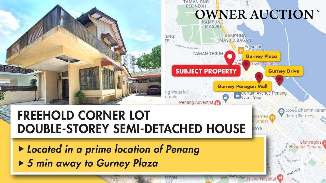 [Owner Auction™] Big & Spacious Freehold Double-Storey Semi-Detached House @ Georgetown, Penang