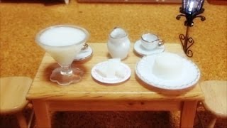 Miniature Food#54 Milk jelly - Cooking/How to make Milk jelly 미니어쳐 우유 젤리