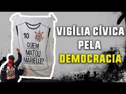 Torcida do Corinthians realiza ato pela Democracia no Parque São Jorge