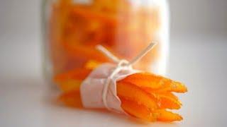 Цукаты из апельсиновых корок. Быстрый способ
