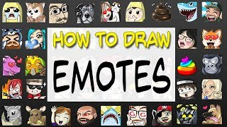 HOW TO DRAW EMOTES For Twitch, Mixer, & Youtube