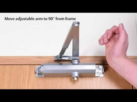 Installing the Union Retro V Variable Power Overhead Door Closer