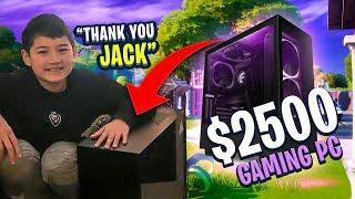 I SENT CONNOR A $2,500 PC!!! HE LOVES IT! (Fortnite: Battle Royale)