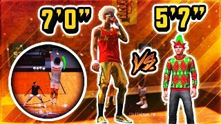 "7'0"" PURE STRETCH DEMIGAWD vs WORLDS SMALLEST 5'7"" PLAYSHARP - NBA 2K19"