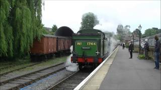preview picture of video '(HD) Great Northern Railway N2 No.1744 departs Ongar Station, 21/06/2013'