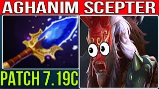 NEW AGHANIM SCEPTER  HERO GRIMSTROKE PATCH 7.19C | DOTA 2 NEW META GAMEPLAY