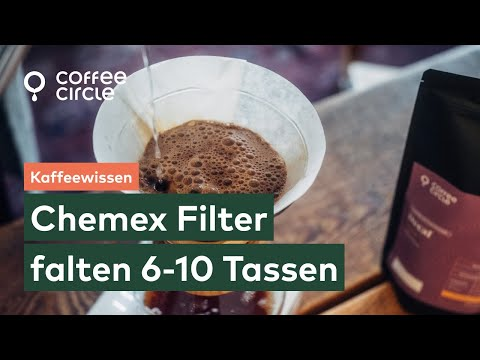 Wie falte ich Chemex Papierfilter richtig? (6 bis 10 Tassen)