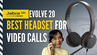 JABRA EVOLVE 20 (less than 2k lang)| BEST HEADSET FOR VIDEO CALLS  | Work/Learn from Home