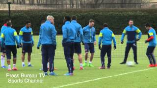 Arsenal full training session 2015 including one on one with Sanchez training