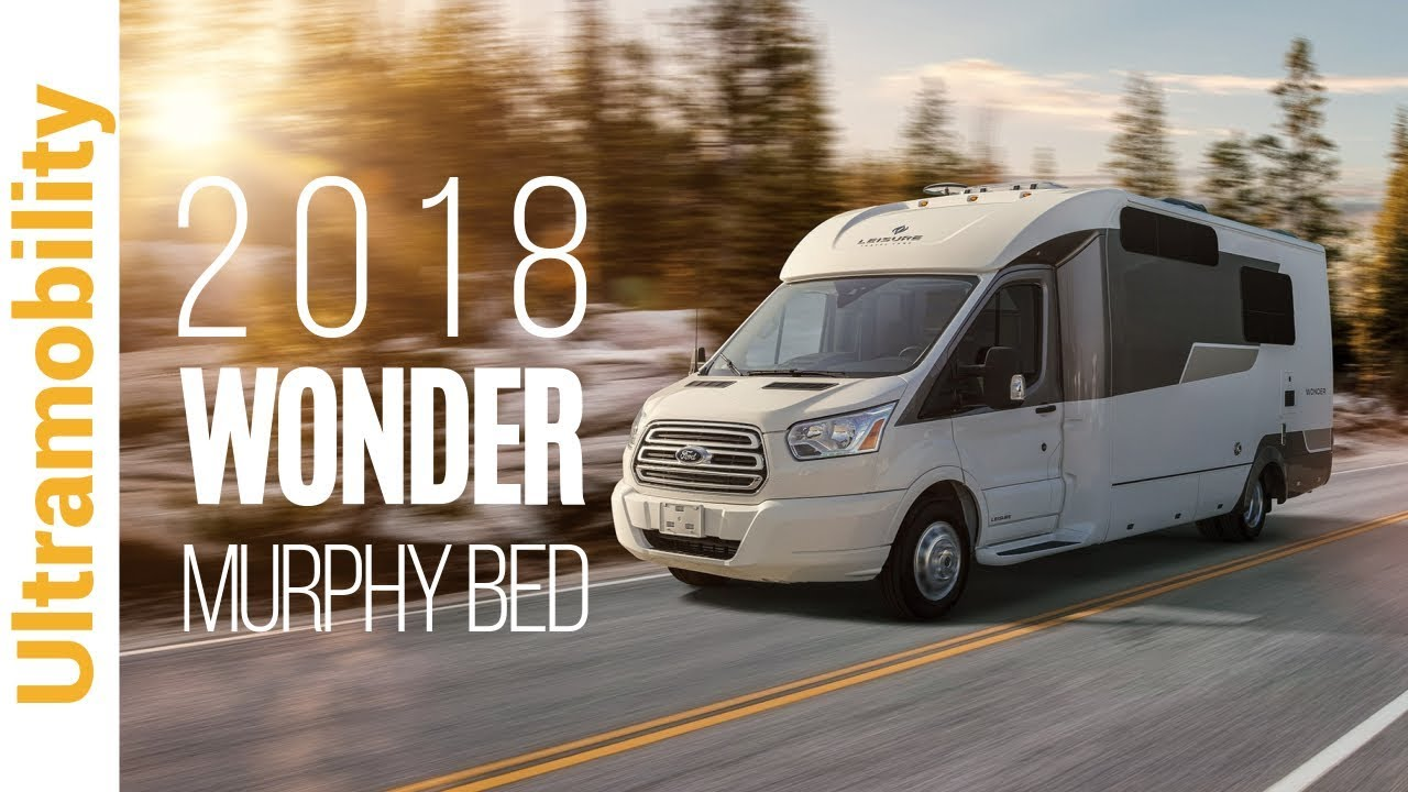 2018 Leisure Travel Vans Wonder Murphy Bed | Class B+ Campervan on Ford Transit
