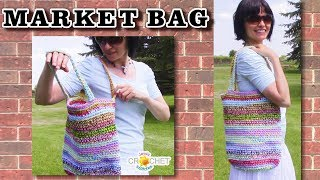 Happy Scrappy Market Bag - Reusable Shopping Bag Crochet Pattern & Tutorial