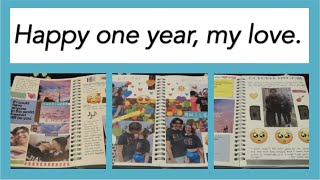 One Year Anniversary Journal/Scrapbook