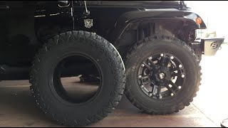 35 inch Tires for my JEEP WRANGLER!  Review and comparison between 33 and 35 inch TIRES!