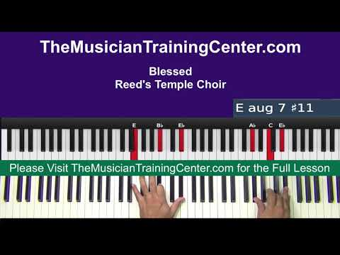 "Piano: How to Play ""I Am Blessed"" by Reed's Temple Choir"