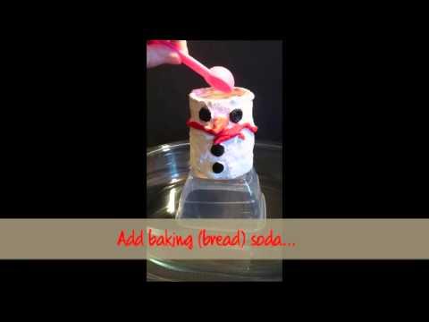 Erupting snowman experiment
