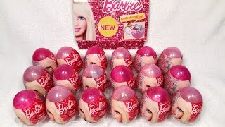 Barbie Surprise Eggs Opening - part 1 | Unwrapping of Kinder Style Eggs with toys 4 girls