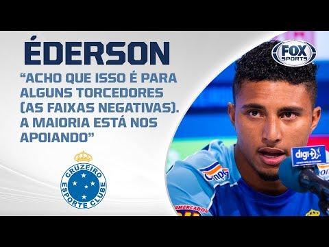 CRUZEIRO AO VIVO! Éderson fala sobre briga contra o Z-4 e duelo com o Santos no Brasileirão