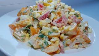 БЫСТРЫЙ САЛАТ НА КАЖДЫЙ ДЕНЬ. Рецепты салатов быстрого приготовления.