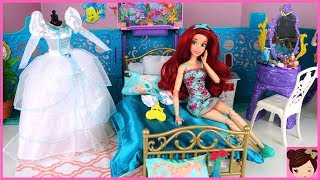 Barbie Little Mermaid Ariel Wedding Morning Routine - Rapunzel Hair Salon