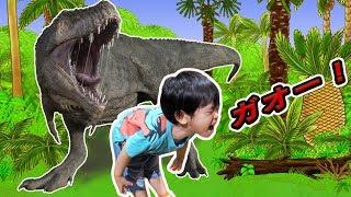 ガオー!!銀太が恐竜嫌いになったかも!?わくわく恐竜ランドに遊びにいったよ♪