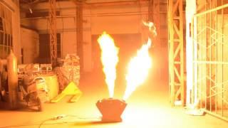 3 heads dmx flame machine
