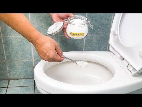Kann man mit Backpulver und Essig tatsächlich Verstopfungen in der Toilette beseitigen?