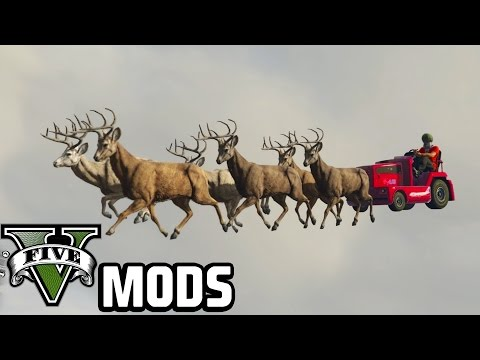 Santa Claus, Flying Toilets And A Tower Of Chimps - GTA 5 PC Mods (Vehicle Mod)