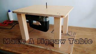 Homemade Jigsaw Table Machine    DIY  Jigsaw Table
