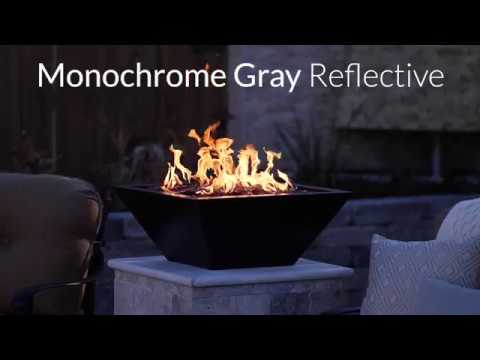 Monochrome Gray Reflective Fire Glass | Lakeview Outdoor Designs