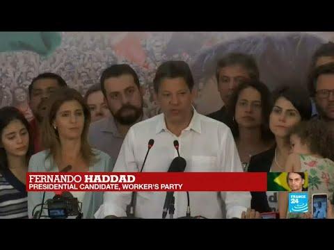 Brazil presidential elections: Worker''s Party candidate Fernando Haddad speaks