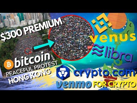 Bitcoin Trades at a PREMIUM in Hong Kong   Binance Venus vs Facebook Libra   Crypto.Com Updates