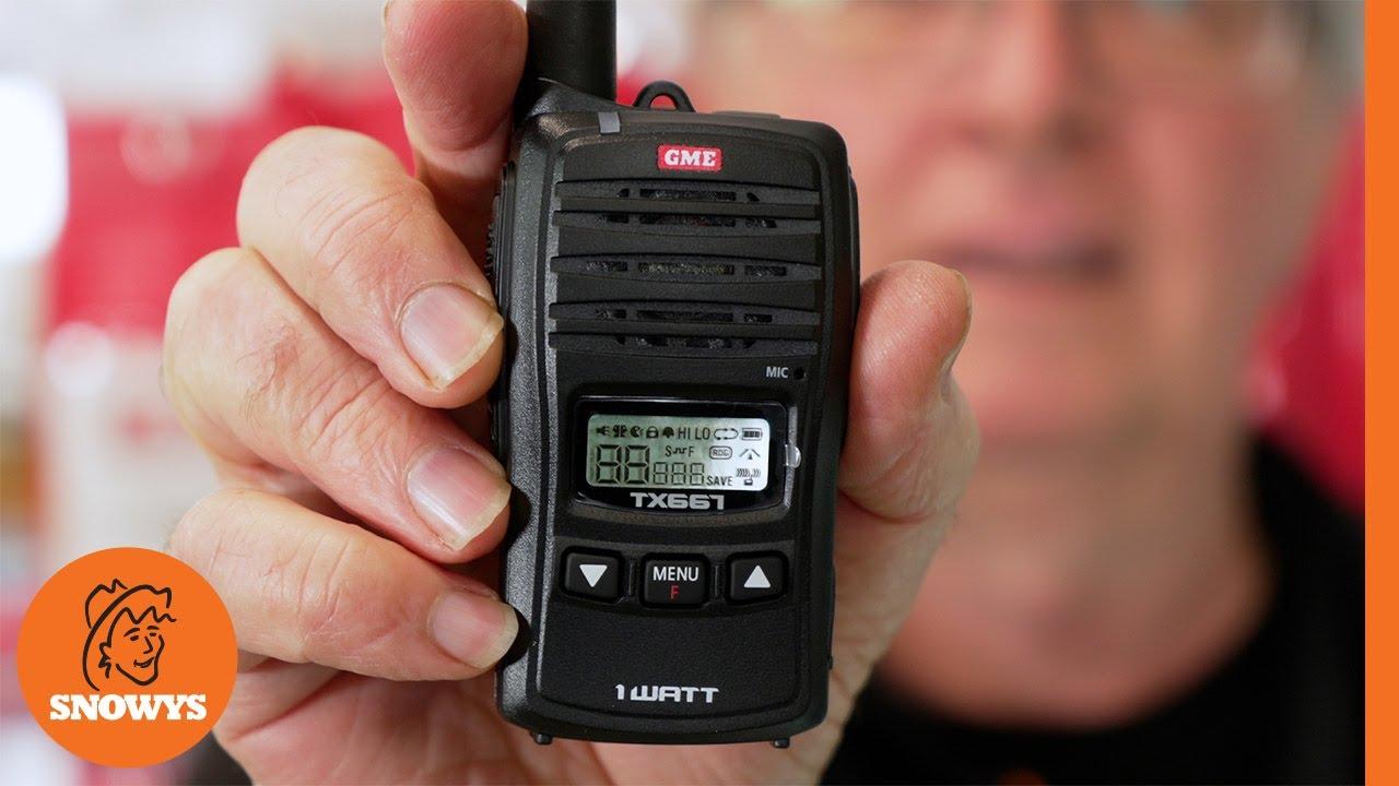 1 Watt UHF CB Handheld Radio Twin Pack TX667TP