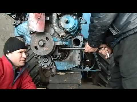 Ремонт заклиневшего двигателя трактор МТЗ.