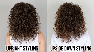 Upright Styling Routine Vs. Upside Down Styling Curly Hair   Curly Haircare For Beginners