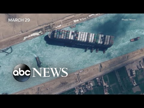 Colossal ship freed from Suez Canal