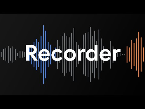 Introducing a New Kind of Audio Recorder
