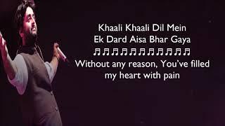 Judaa   Arijit Singh   Lyrics With English Translation   Ishqedarriyaan