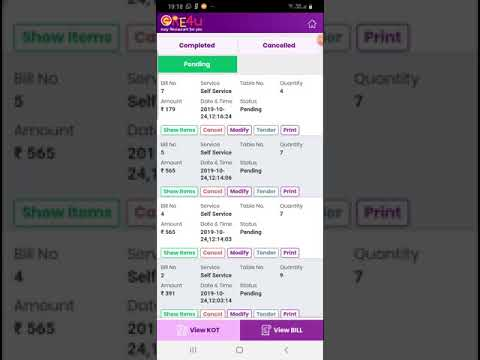How to Operate KOT & Bill Reports in Billing App