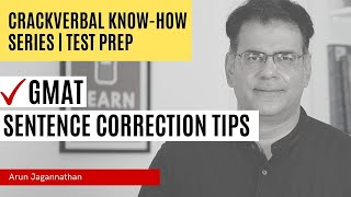 GMAT Verbal Sentence Correction Concepts from Arun Jagannathan's Class in 2014