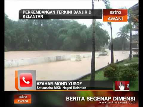 Perkembangan terkini banjir di Kelantan (Rabu, 24 Dis, 8:00 PM)