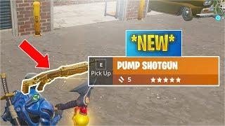 *NEW* Legendary Pump Shotgun Gameplay! (Fortnite)