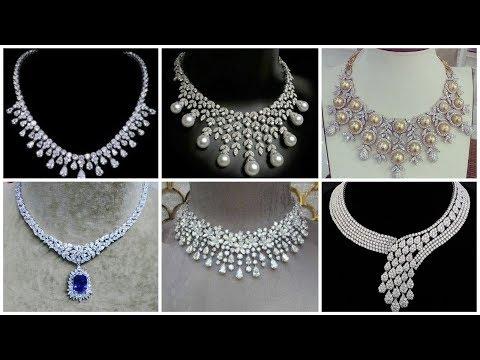 Stylish snd latest diamond necklace designs 2020 collection