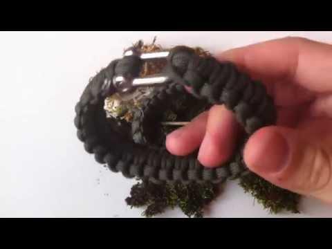 Paracord Survival-Armbänder mit Metall Verschluss