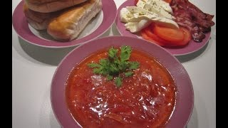Authentic Russian Beet Soup Recipe Borscht (Борщ).
