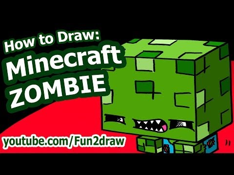 Fun2draw Minecraft Zombie | *Fun2draw Stars* by The Funny ...