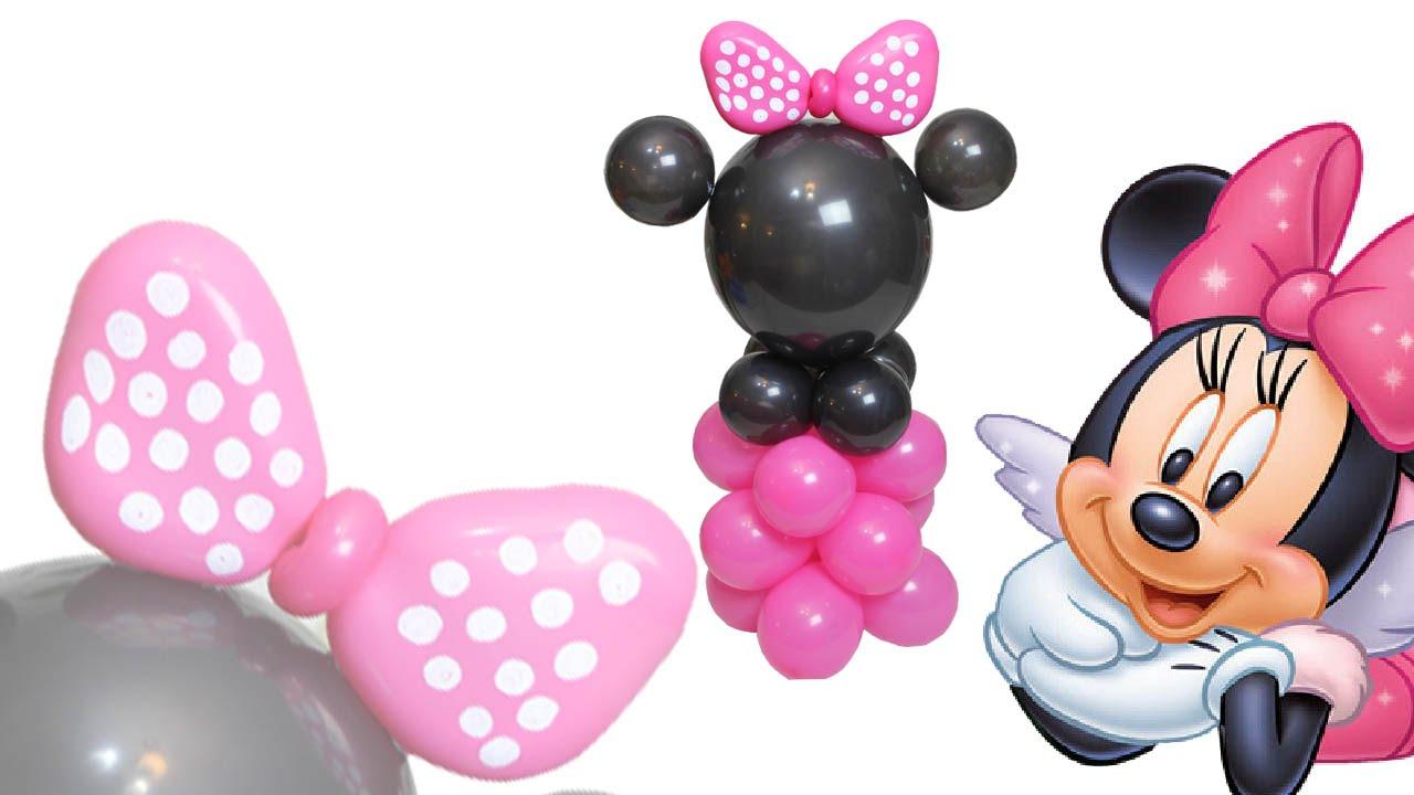 DIY Curso de Globos Columna / Centro de Mesa  Minnie Mouse